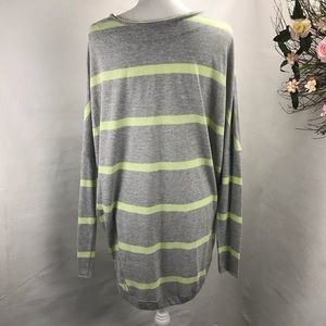 We The Free Tops - We the Free oversized Pullover . EUC. Gray striped